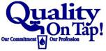 Quality on tap logo