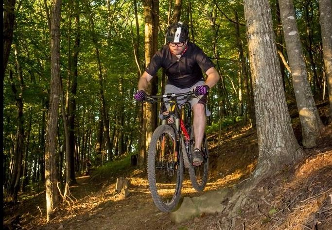 Photo of mountain biker on Flag Rock Area Trails
